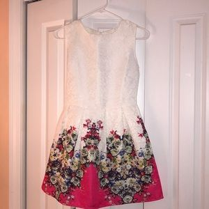Dresses & Skirts - White and floral dress - never worn